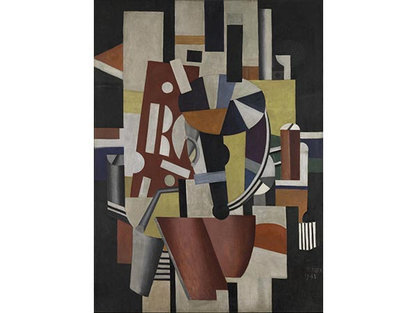 Fernand-Leger-Composition-The -Typographer-1918-19-Oil-on-canvas- Leonard-A-Lauder-Cubist-Collection