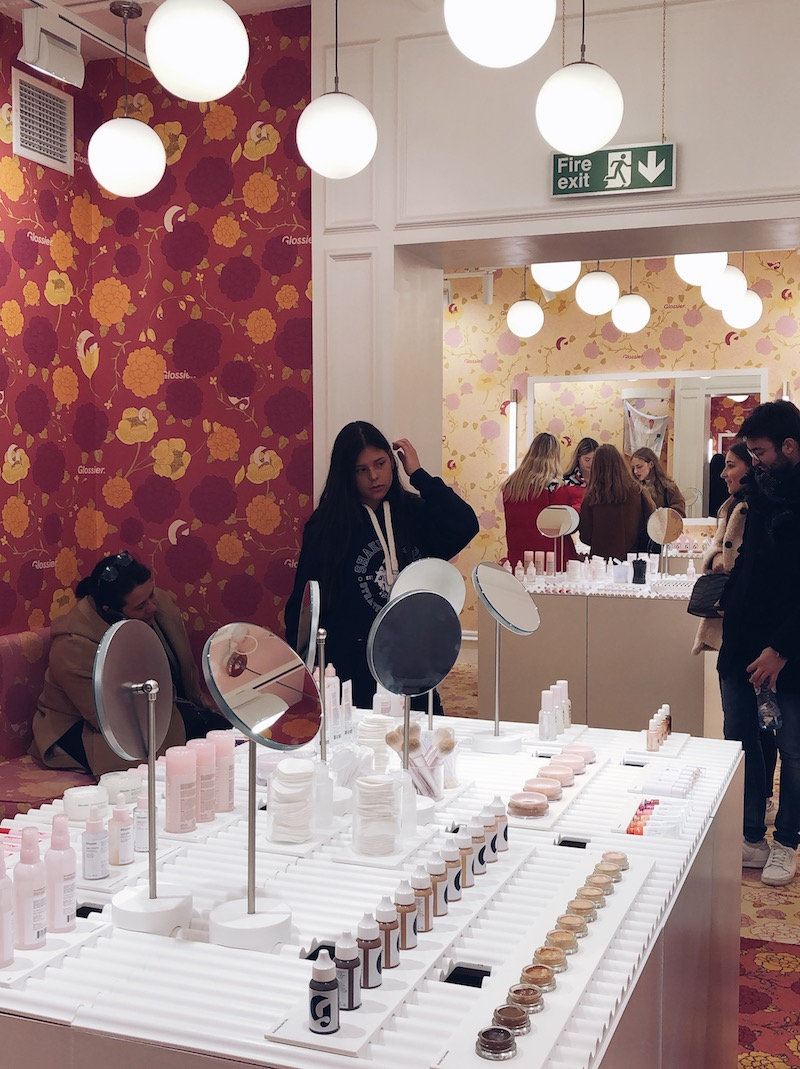 Glossier London Pop-up Floral Street
