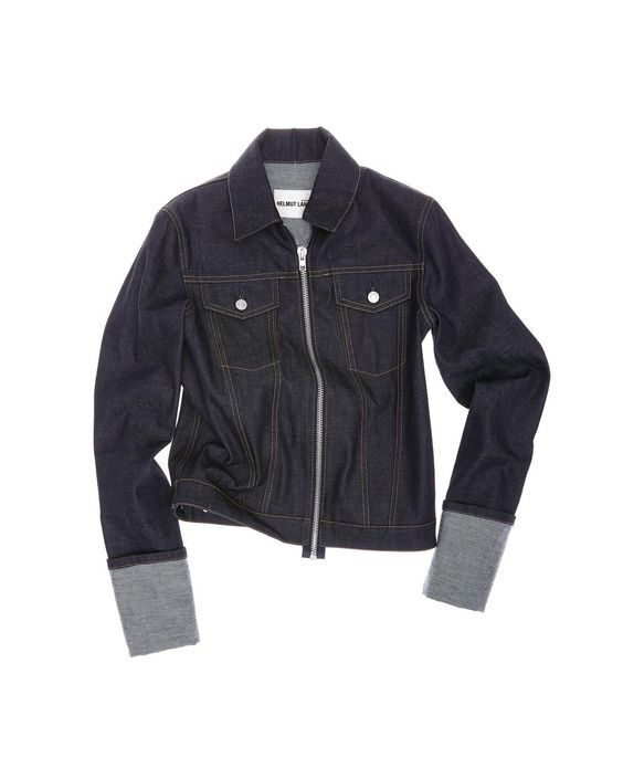 Helmut Lang zip denim jacket