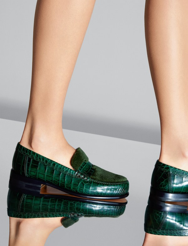 Hermes AW15 alligator and mink loafers Emanuele Fontanesi