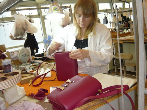 How are Hermes bags made?