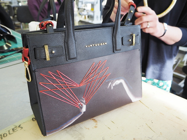 Kurt Geiger and Cordwainers at London College of fashion Saffiano bag design by  Andrea Fernandez Herrero