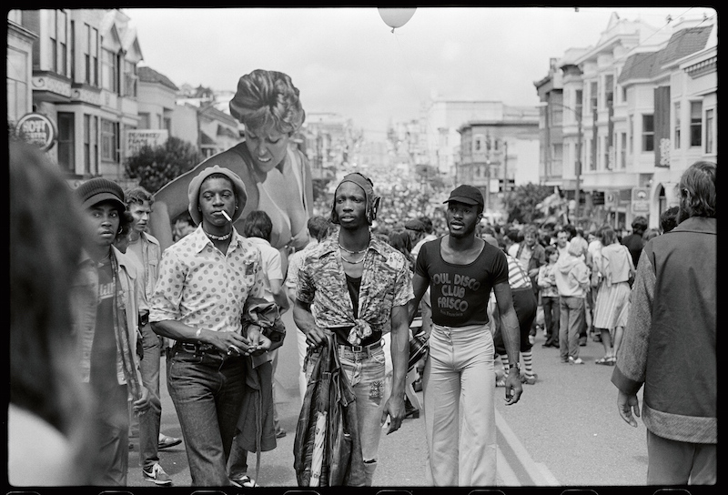 Leon Lott, December Wright and Larry Williams by Daniel Nicoletta at San Francisco's Castro Street Fair in August of 1976. By Daniel Nicoletta