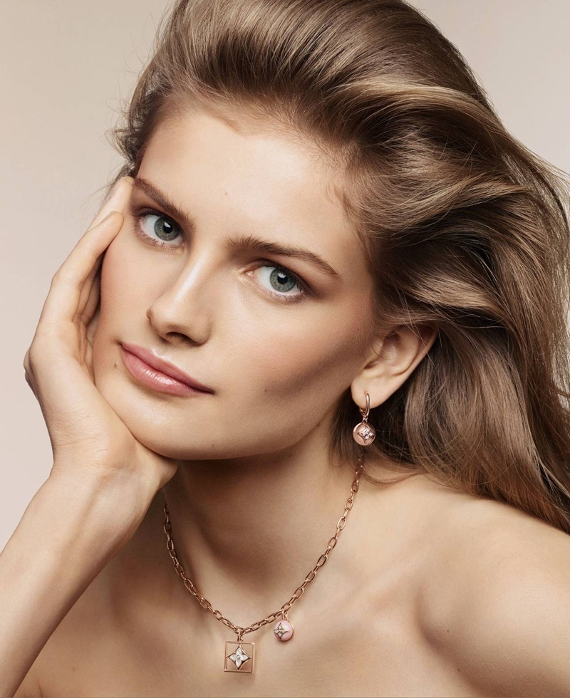 Louis Vuitton fine Jewellery on model Signe Veiteberg