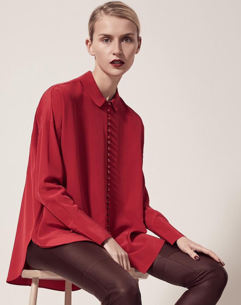Me+Em Oversized Silk Blouse