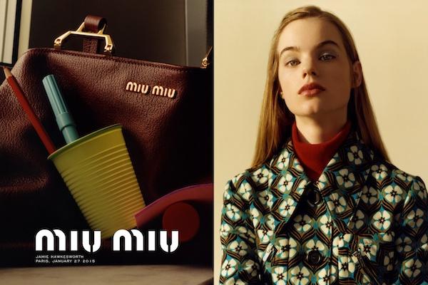 Miu Miu autumn 2015 campaign Jamie Hawkesworth