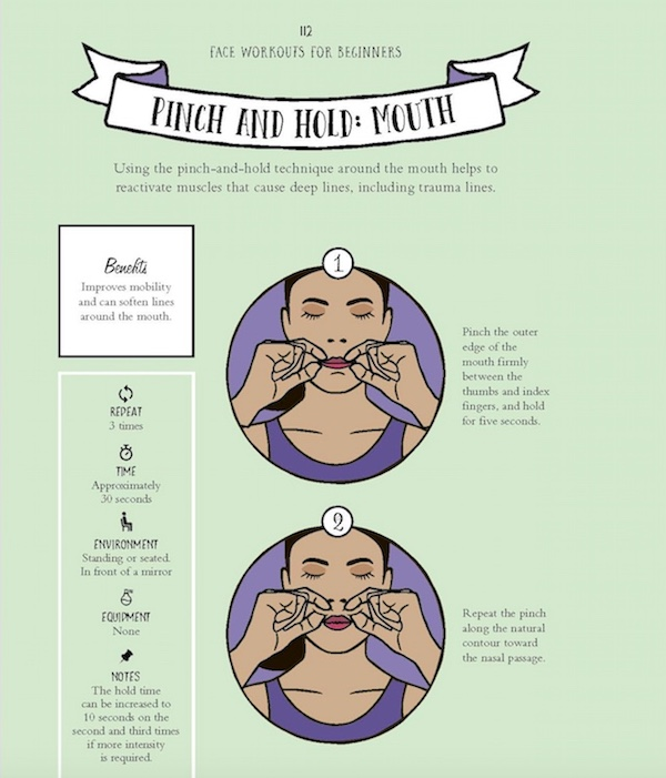 Pinch and Hold face workout
