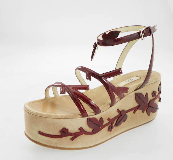 Pradasphere-Harrods-PRADA-Antique-wedge-red-patent-embroidery-AW97