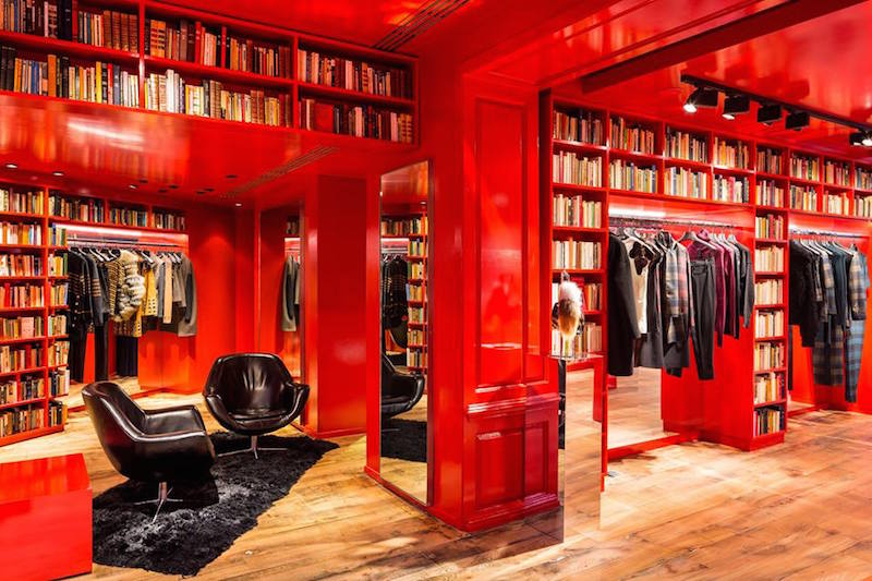 Sonia Rykiel Brook Street store bibliotheque