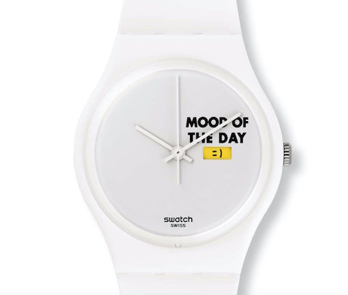 Swatch mood board emoji watch