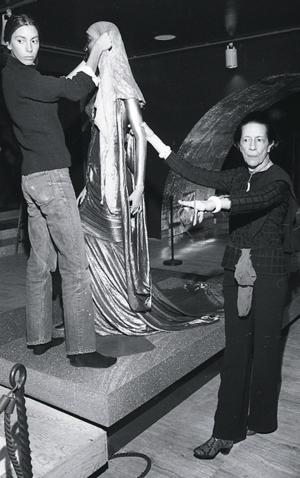 Tonne Goodman and Diana Vreeland 1975