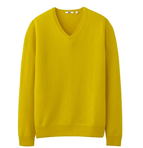 Uniqlo-cashmere-mens yellow