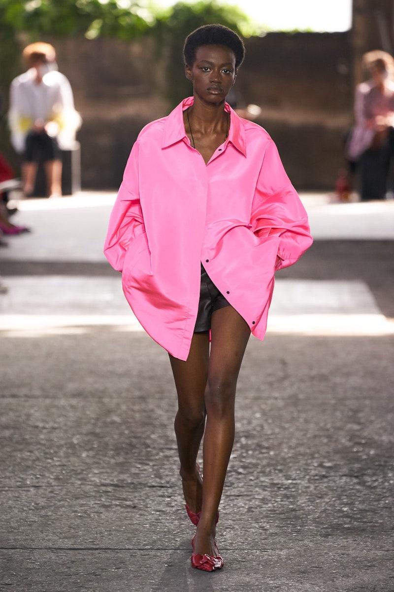 Valentino SS21 pink shirt