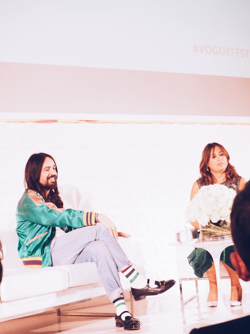 Alessandro Michele at Vogue Festival gave us the low down on his journey, from his start at Fendi to his work with Tom Ford in London and then the famous five-day deadline he had to whip up his first collection for Gucci