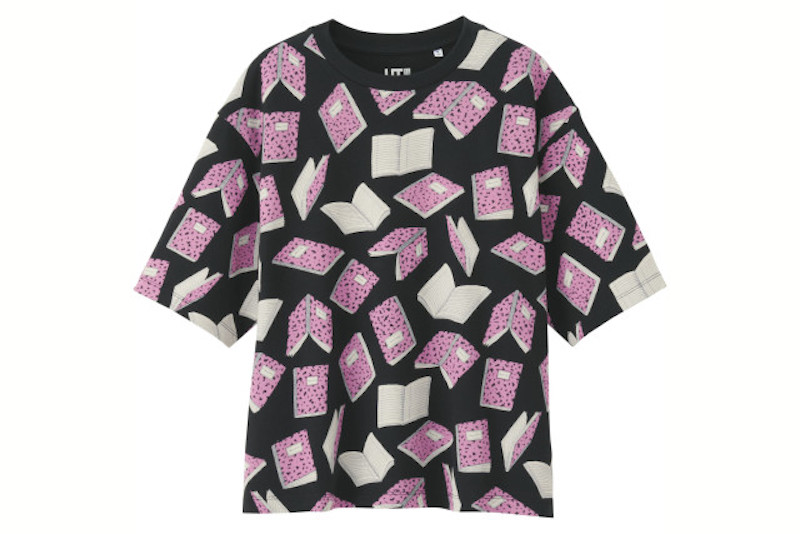Book print tee by Uniqlo X Olympia Le-Tan