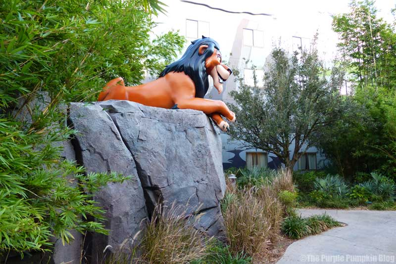 Disney's Art of Animation Resort - The Lion King Courtyard - Scar Statue