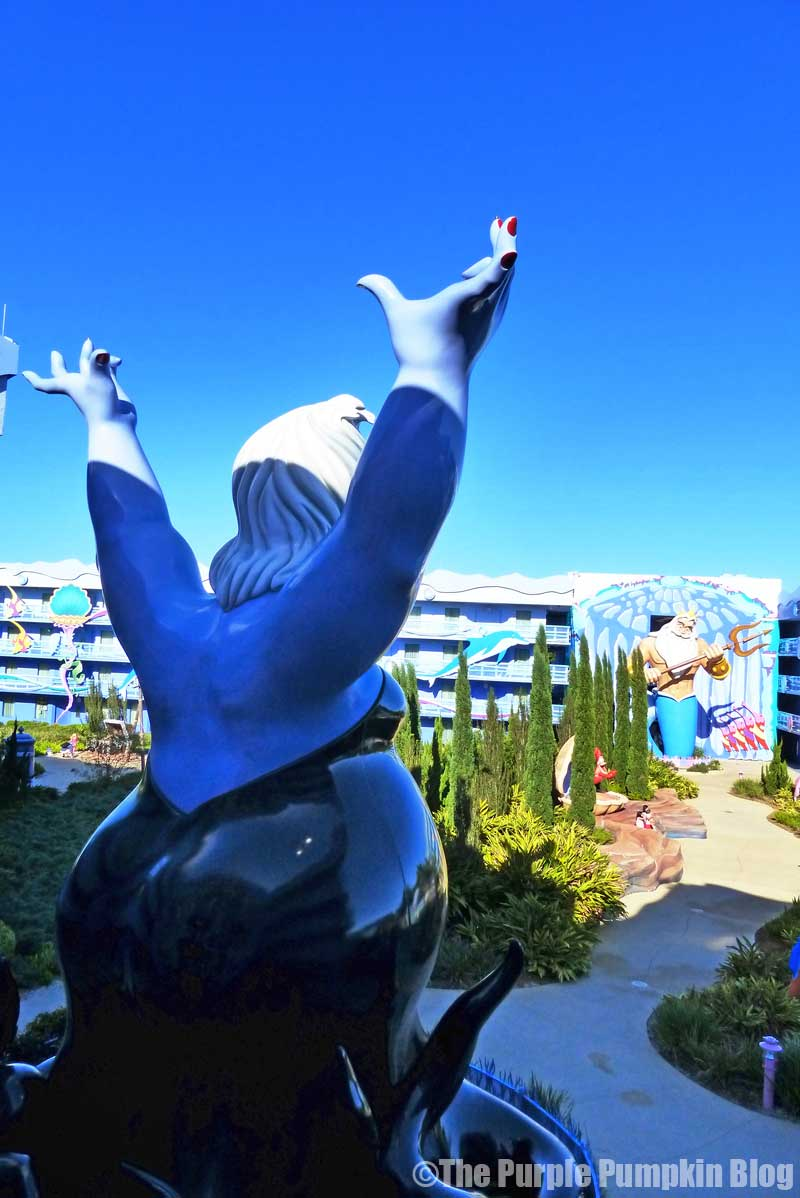 Disney's Art of Animation - The Little Mermaid Courtyard - Ursula Statue