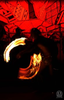 Fire Knife Dancer at Spirit of Aloha Dinner Show