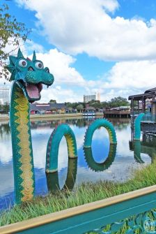Lego Sea Monster at Disney Village