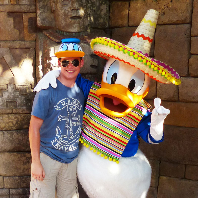Liam with Donald Duck