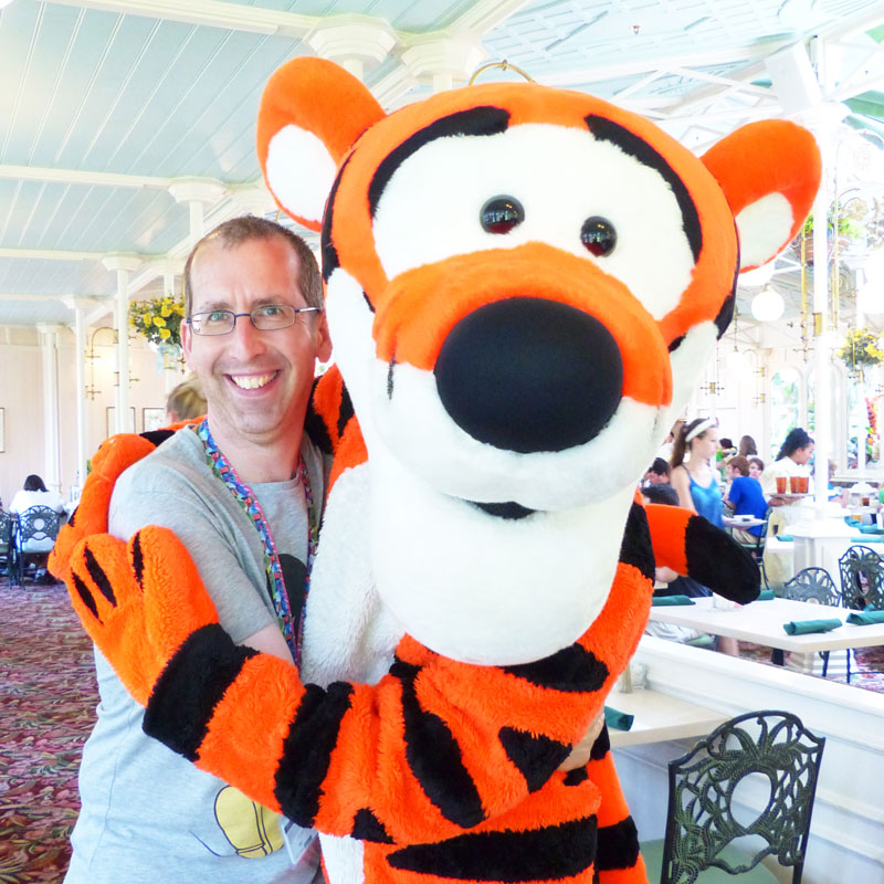 Steve with Tigger