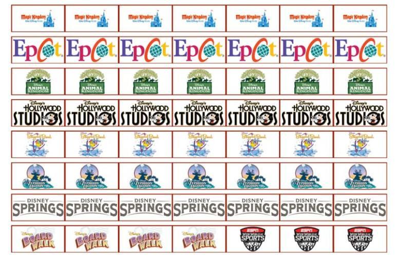 Disney Planning Labels