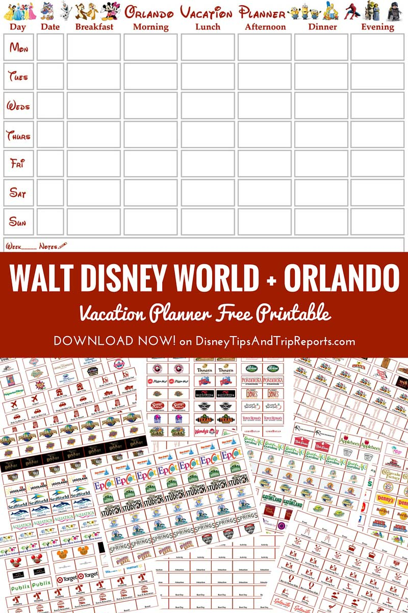 7 Best Images of Disneyland Vacation Planner Printable ...