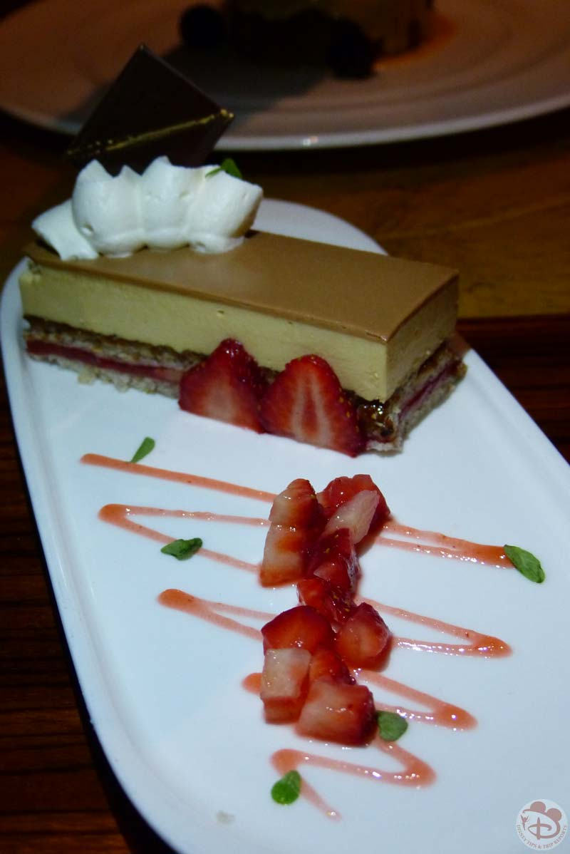 Valrhona Chocolate Mousse and Hazelnut Dacquoise Cake - Jiko - The Cooking Place - Animal Kingdom Lodge