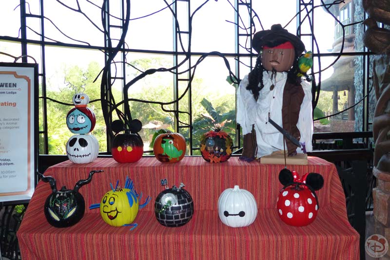 Pumpkin Decorating Contest at Animal Kingdom Lodge