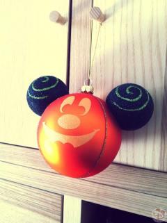 Pumpkin Mickey Halloween Ornament