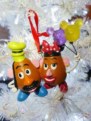 Mr & Mrs Potato Head Disney Christmas Ornament