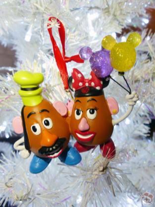 Mr & Mrs Potato Head Disney Christmas Ornament