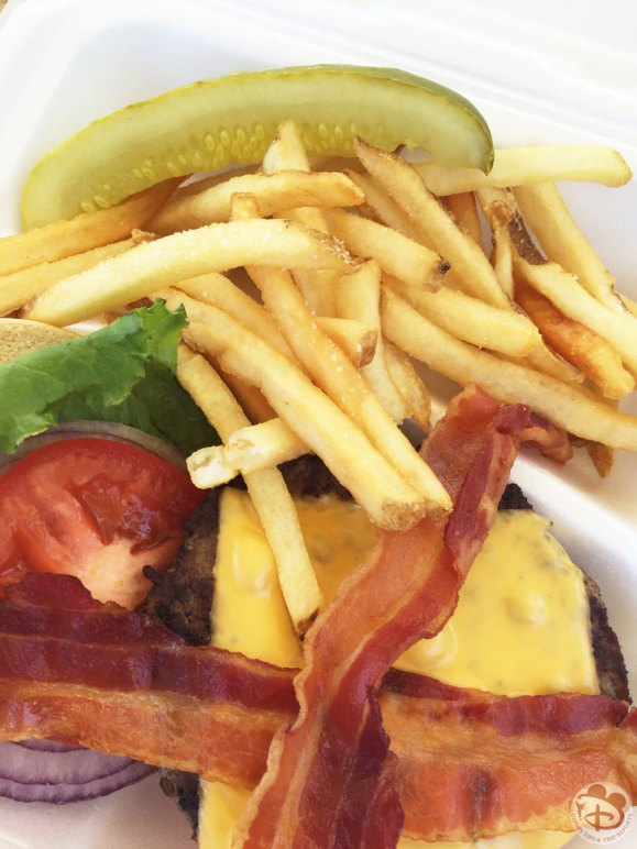 Disney Bacon Cheeseburger + Fries