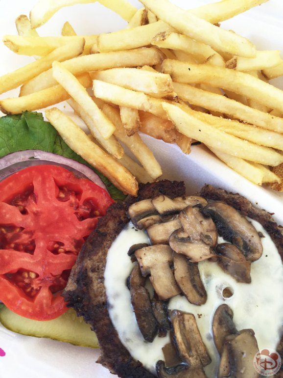 Disney Mushroom Provolone Burger + Fries