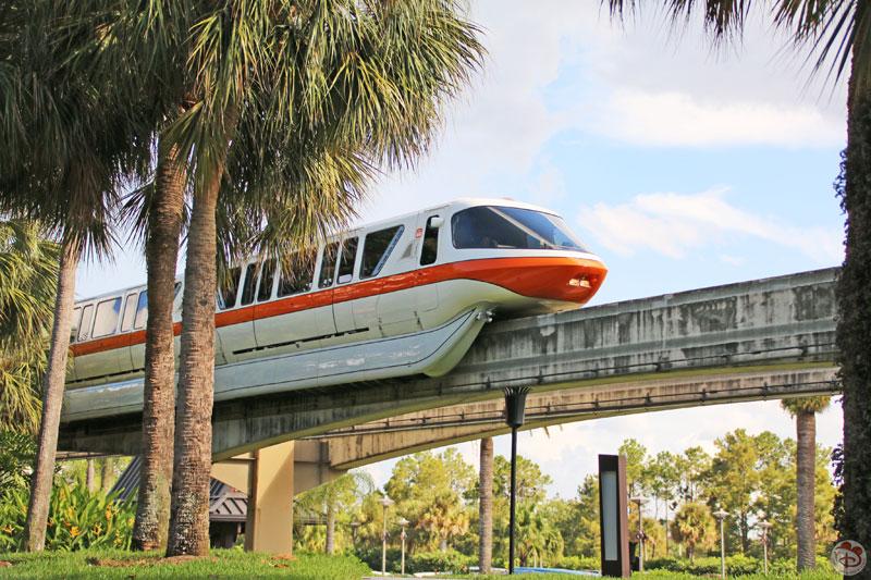 Monorail at Disney's Polynesian Village Resort