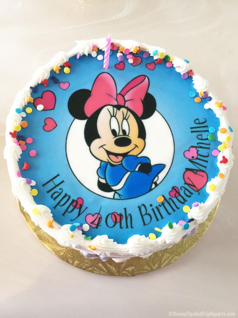 Awe Inspiring Disney Birthday Cake Disney Tips Trip Reports Personalised Birthday Cards Rectzonderlifede