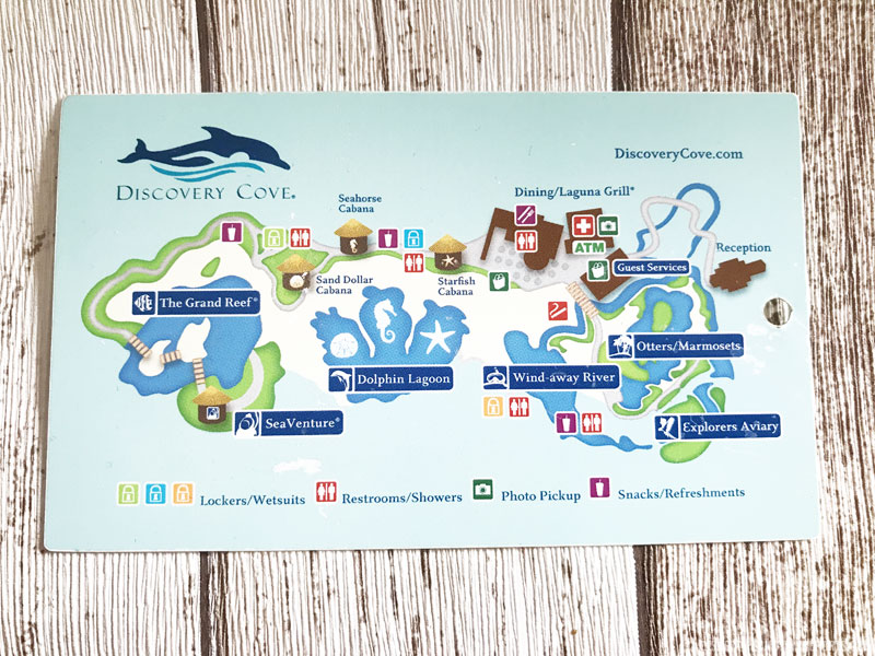 Discovery Cove Map 2016