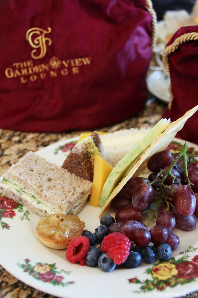 Medley of Finger Sandwiches accompanied with Berries, Cheese and Lavosh