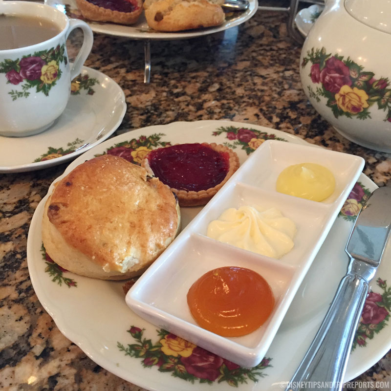 Buttery Scone and Jam Tart