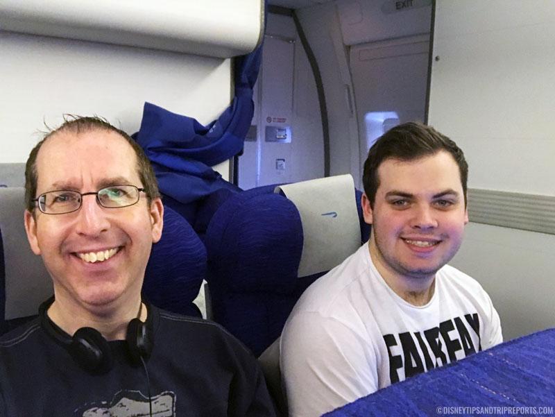 Us on British Airways Flight to Orlando