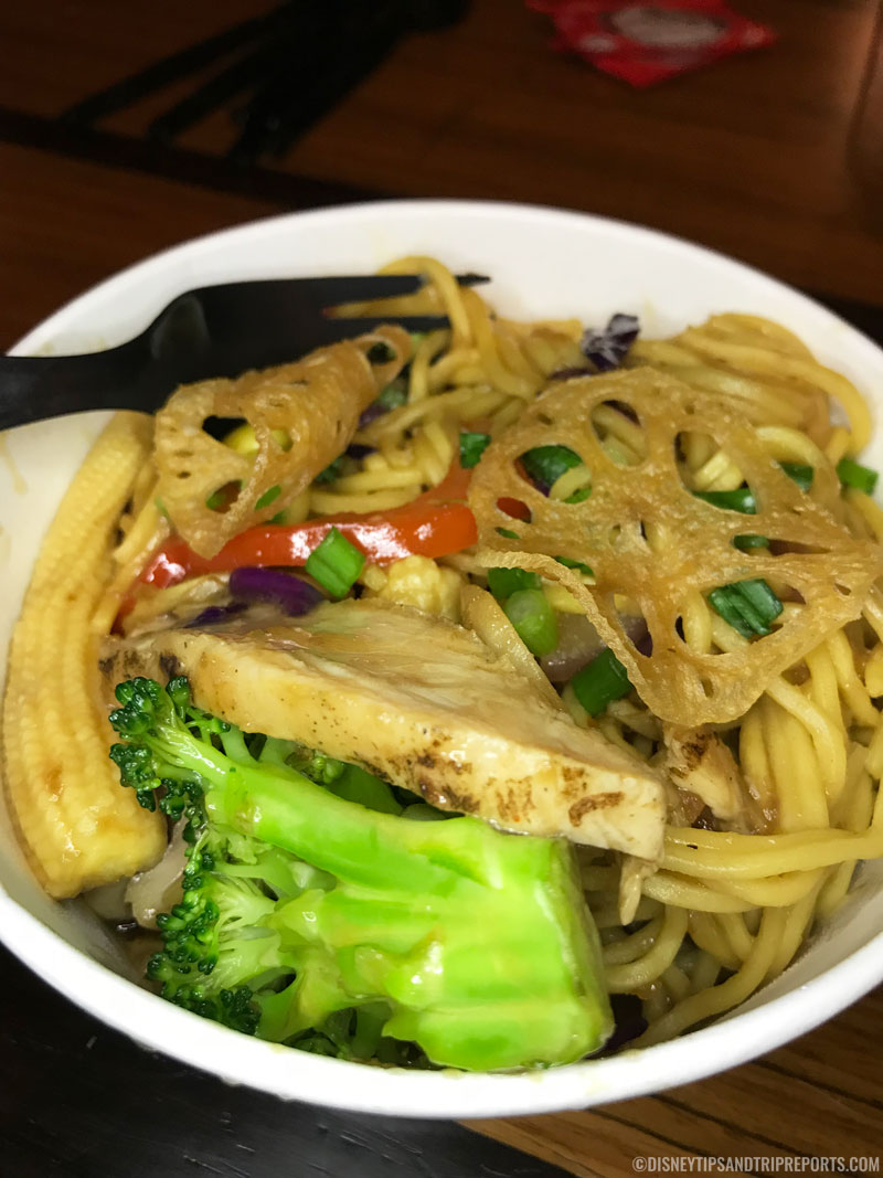 Pan Asian Noodles and Vegetables with Chicken - Disney Dining - Captain Cook's