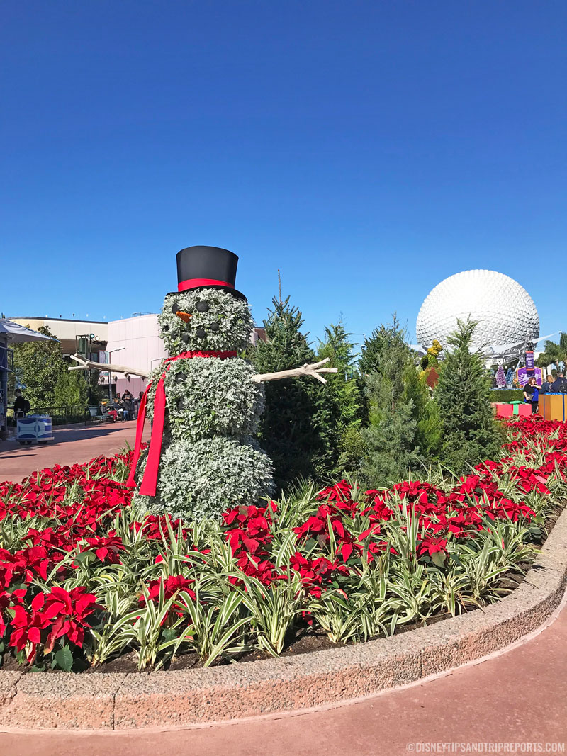 Epcot Snowman Topiary
