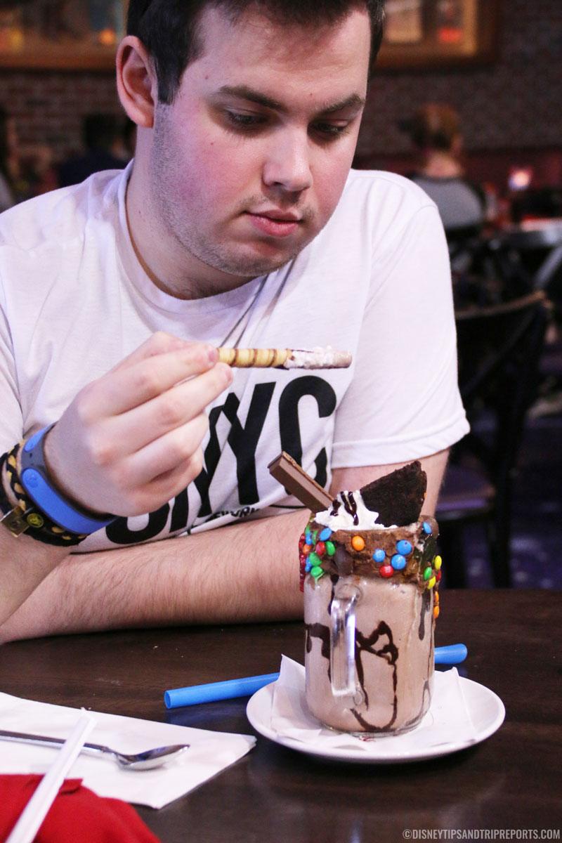 Chocolate Comet Milkshake - Planet Hollywood Disney Springs