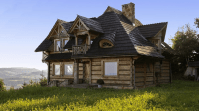 wooden rustic house