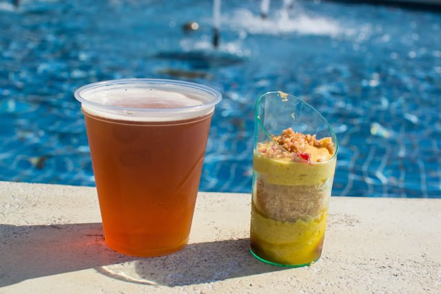 Pumpkin Mousse at Epcot's Food & Wine Festival is the BEST snack...read about 20+ other great choices!