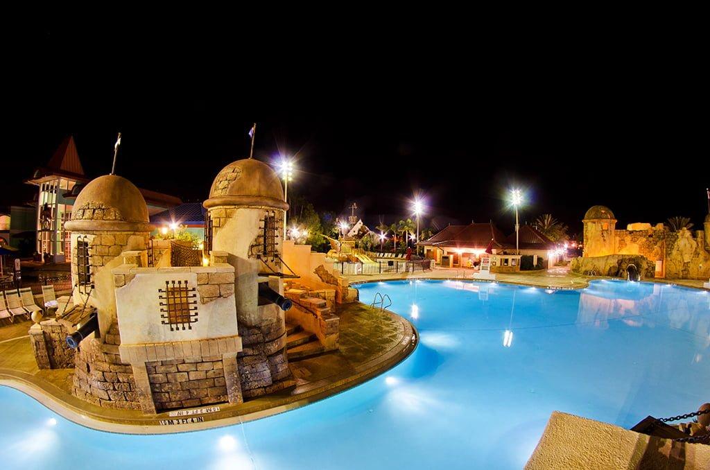 Caribbean Beach Resort Pool Night