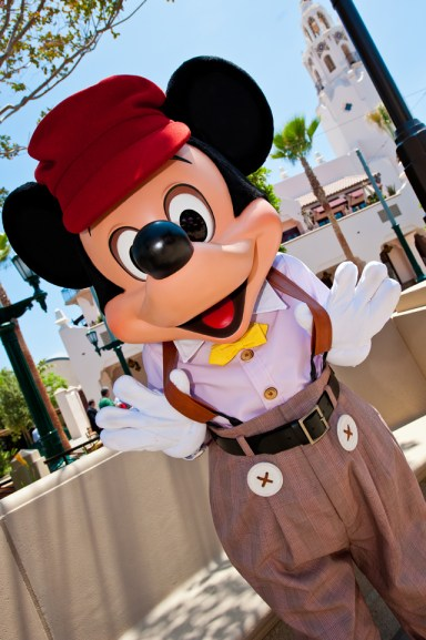Buena Vista Street Mickey Mouse at Disney California Adventure