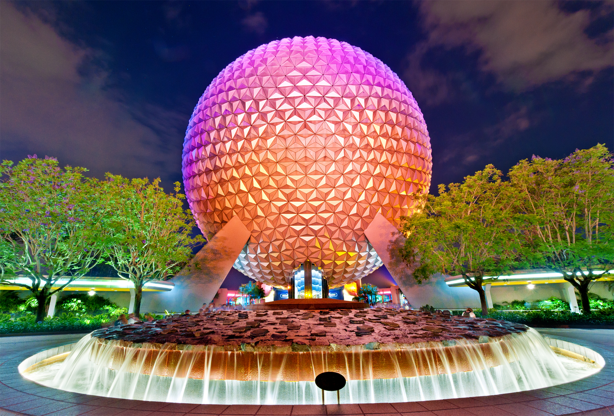 Another Spaceship Earth Night Photo - Disney Tourist Blog