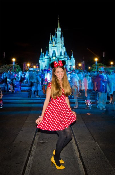 Cute Minnie Mouse Costume - Low cost and fun way to dress up for Mickey's Not So Scary Halloween Party at Disney!