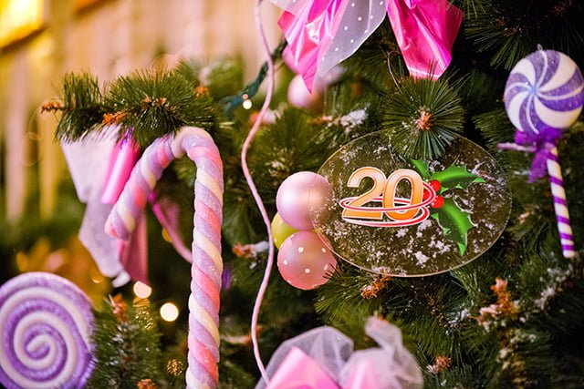 Disneyland Hotel Christmas Tree 20th Ornament